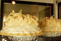 """It's time for dessert! Read all about where you can find """"Oklahoma's Perfect Pies"""" by clicking the picture of the gorgeous looking mile high meringue pies at Click's Steakhouse in Pawnee."""