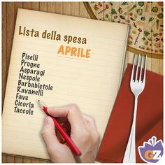 #Aprile e i suoi #ingredienti! #listadellaspesa di #Giallozafferano!