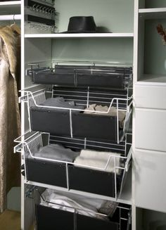 Baskets for Folding Items | California Closets