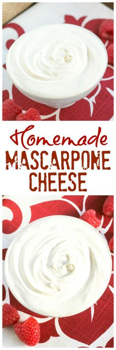 Homemade Mascarpone   How to make mascarpone cheese at home. It's SO easy! @lizzydo