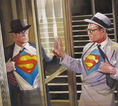 Alex Ross – George Reeves / Christopher Reeve - Superman x 2 Christopher Reeve, Comic Book Artists, Comic Book Heroes, Comic Books Art, Comic Art, Alex Ross, Batman Y Superman, Superman Family, Superman Artwork