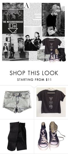 """""""The Neighborhood"""" by bvbarmy-jaseyrae ❤ liked on Polyvore featuring moda, H&M e Converse"""