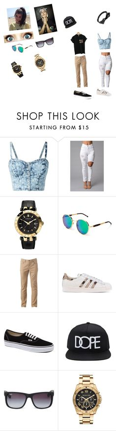 """""""Untitled #9"""" by tonello13 ❤ liked on Polyvore featuring Versace, Wildfox, Urban Pipeline, adidas Originals, Vans, Forever 21, Ray-Ban, Michael Kors and Wet Seal"""
