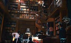 "Library in Jay Gatsby's house West Egg - ""The Great Gatsby"""
