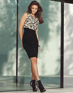 Michelle Keegan 2 In 1 Bodycon Dress and love those shoes!!!!