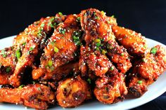 Sweet n Spicy Garlic Ginger Chicken Wings