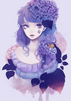 ADOPTED Cassandra. Loves flowers and the color purple. She's rumored to be a witch, and she makes her own line of perfume products that are also rumored to have special side effects.