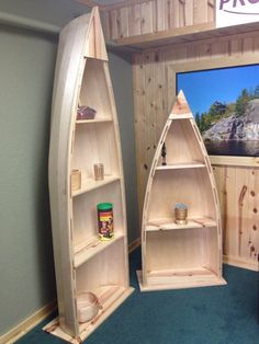 Canoe book shelf 8ft by ProjectCanoe on Etsy