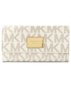MICHAEL Michael Kors Handbag, MK Logo Checkbook Wallet - Wallets & Wristlets - Handbags & Accessories - Macy's $158
