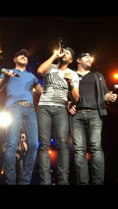 Luke Bryan with Cole Swindell and Lee Brice