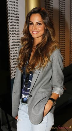 great jacket - Ariadne Artiles en el Open de Tenis 2010