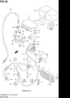 2003 suzuki vs1400glp intruder electrical parts - best oem electrical parts  diagram for 2003 vs1400glp intruder motorcycles