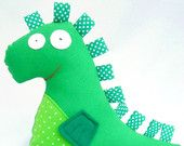 Green Dragon Soft Stuffed Animal. Plush for Babies and Toddlers