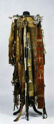 Buryat shaman costume, rear view.