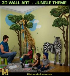 jungle themed rooms for adults   : jungle theme bedrooms - safari jungle themed wild animals - jungle ...