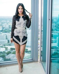 Get this look: http://lb.nu/look/7881848  More looks by Style Link Miami: http://lb.nu/stylelinkmiami  Items in this look:  Style Link Miami Two Tone Novelty Mini Dress, Style Link Miami Instagram   #fashion #miami #blogger #style #nightout