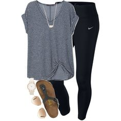 A fashion look from April 2016 featuring Violeta by Mango t-shirts, NIKE and Birkenstock sandals. Browse and shop related looks.