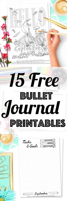 Free Printable September SetUp for your Bullet Journal. Including Habit Tracker, September Memories, Monthly Log & many more beautiful pages.