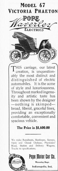 1907 Pope Waverly Model 67. Pope Motor Car Co.