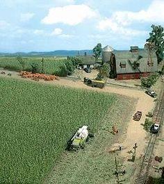 Busch Corn Field - Kit - 10 x HO-Scale Model Railroad Grass Earth Monster Trucks, Ho Model Trains, Garden Railroad, Model Training, Ho Scale Trains, Hobby Trains, Model Train Layouts, Model Building, Scale Models