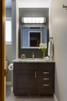 Groveland Hers Bathroom - Hammerdown Construction - Bathroom Renovations Winnipeg Bathroom Renovations, Home Renovation, Construction, Mirror, Furniture, Home Decor, Building, Decoration Home, Room Decor