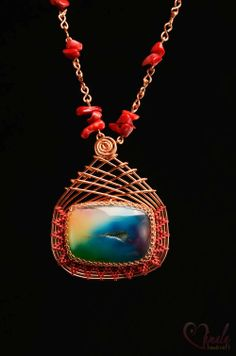 BLISS, Handmade Wire Wrapped Jewellery Necklace | Vimala Handmade Jewellery and Craft