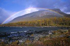 Saana is a fell in Enontekiö, Finland. Beautiful rainbow...
