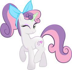 Sweetie Belle by rainbownspeedash on DeviantArt Hasbro My Little Pony, Mlp My Little Pony, My Little Pony Friendship, Mlp Twilight Sparkle, Sweetie Belle, Little Poni, Mickey Mouse Cartoon, Mlp Comics, Solid Color Backgrounds