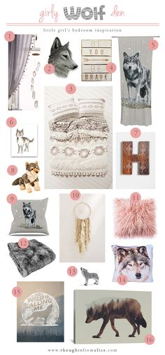 Thoughts from Alice: Girly Wolf Den: Little Girl's Bedroom Inspiration