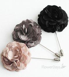 mens lapel flower pins   ... Men's Flower Boutonniere / Buttonhole For Wedding,Lapel Pin,Tie Pin