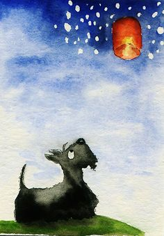 Scottie Dog 'Chinese Lantern' by archyscottie
