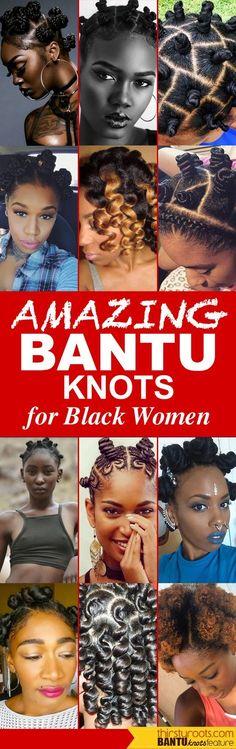 Bantu Knots Hairstyles for Black Women
