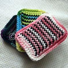 Super Duper Kitchen Sponges - perfect first Tunisian Crochet project!