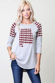 d046e45c71868d Perfect top for Alabama football fans!! Alabama Elephant, Animal Print  Fashion, Elephant