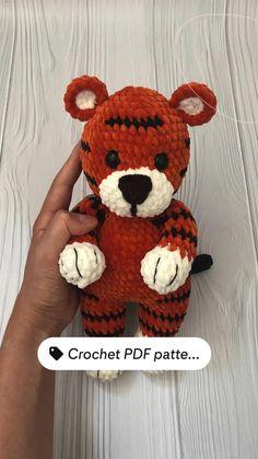 Pdf Patterns, Crochet Patterns, Amigurumi Patterns, Crochet Ideas, Learn To Crochet, Easy Crochet, Crochet Animals, Crochet Toys, Softie Pattern