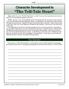 characters of the tell tale heart essay View this essay on tell tale heart character analysis of main character edgar allan poe may be considered one of the founders of american gothic literature.