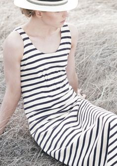 STRIPE TRAPEZE DRESS      | TOAST