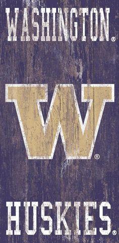 "Washington Heritage Distressed 6""x12"" Logo with Team Name Wall Art"