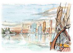 De nieuwe sky-line van Rotterdam