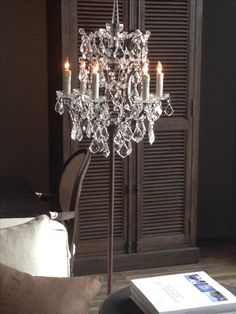 Chandelier floor lamp; I own this floor lamp and it is so beautiful! The