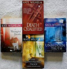 Kate Wilhem lot of 4. Barbara Holloway novels. $4.25