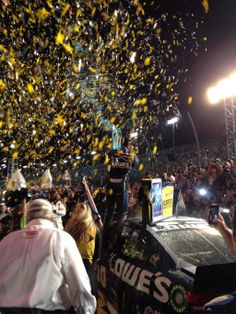 Jimmie Johnson celebrates his 6th Sprint Cup NASCAR Championship