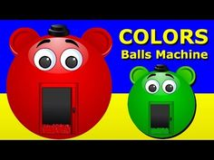 Learn Colors with Balls Machine, Teach Colours, Baby Children Kids Learning Videos by Baby Rhymes - YouTube