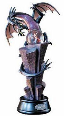 Scan from the Disney Catalog. Sleeping Beauty Description: Prince Phillip battles Maleficent in her monstrous dragon form. Walt Disney, Cute Disney, Disney Magic, Disney Art, Maleficent Dragon, Disney Maleficent, Disney Snowglobes, Sleeping Beauty Maleficent, Disney Wishes