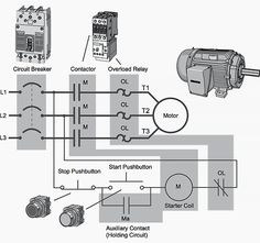 on off phase motor connection control diagram electrical motor starter wiring diagram