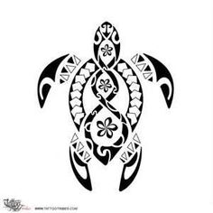 Samoan Tattoo Turtle, my all time favorite most intelligent animal, white sea turtle. One of these days get a bone tattoos