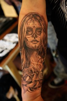hi i'm jose lopez and i'd like to be one of the best tattoo artists of all time. yeah. #dayofthedead