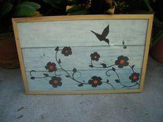 Hummingbird Wall Art Pallet Wood by BeckVintage on Etsy