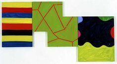 "Interval,"" 2002. Oil on canvas, triptych: 40 x 74 inches overall. © Mary Heilmann. Courtesy the artist, 303 Gallery, New York and Hauser & Wirth, Zürich London."