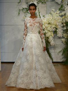 Monique Lhuillier Spring 2018: Regal, Romantic Wedding Dresses | TheKnot.com